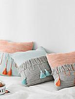 cheap -1 pcs Cotton Pillow Cover, Color Block Modern Square Zipper Traditional Classic