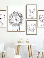 cheap -Wall Art Canvas Prints Painting Artwork Picture Nursery Animal Home Decoration Decor Rolled Canvas No Frame Unframed Unstretched