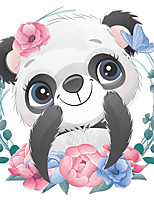 cheap -Cute Panda Wall Stickers Living Room Kids Room Kindergarten Removable Pre-pasted PVC Home Decoration Wall Decal 1pc