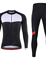 cheap -21Grams Men's Long Sleeve Cycling Jersey with Tights Spandex Black 3D Bike Quick Dry Moisture Wicking Sports Graphic Mountain Bike MTB Road Bike Cycling Clothing Apparel / Stretchy / Athletic