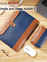 cheap -PU Leather Laptop Sleeve Case for Macbook Air 13.3 Pro 12/13/14/15/16 inch Bag for MacBook Pro Waterpoof Shock Proof Notebook Sleeve Bag