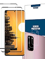 cheap -galaxy s20 premium tempered glass screen protector + camera lens protectors by ye, [2 + 2 pack] [anti-scratch] [3d glass] full coverage screen protector