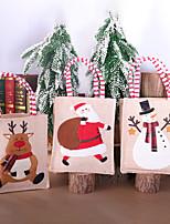 cheap -Fashionable Canvas Shoulder storage Bag Christmas gym reusable portable grocery shopping cloth book tote 15*30cm