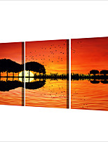 cheap -3 Panels Wall Art Canvas Prints Painting Artwork Picture Guitar Home Decoration Decor Rolled Canvas No Frame Unframed Unstretched