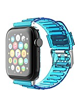 cheap -Smart Watch Band for Apple iWatch 1 pcs Sport Band Resin Replacement  Wrist Strap for Apple Watch Series SE / 6/5/4/3/2/1 38mm 42mm