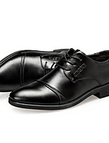 cheap -Men's Loafers & Slip-Ons Lace up Formal Shoes Comfort Shoes Business Casual Classic Daily Office & Career PU Non-slipping Height-increasing Wear Proof Black Brown Fall