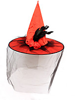 cheap -Women's Party Hat Party Halloween Carnival Feather Red Purple Hat Fall Winter Spring Summer