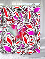cheap -Tropical Plant Printing Series Digital Printing Shower Curtain Shower Curtains  Hooks Modern Polyester New Design