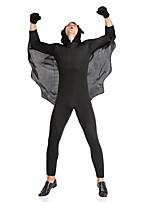 cheap -Bat Dress Adults' Women's Halloween Halloween Festival Halloween Festival / Holiday Terylene Black Women's Easy Carnival Costumes Solid Color / Skirt / Mask / Bracelets