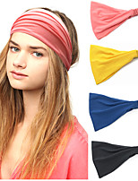 cheap -4 Pcs/set Sports Yoga Headbands Running Fitness Headbands Elastic Women's Wide-brimmed Headband Headbands