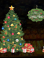 cheap -3D Christmas Wall Stickers Bedroom Kids Room Kindergarten Removable Pre-pasted PVC Home Decoration Wall Decal 1pc
