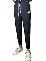 cheap -Men's Classic Style Casual Lightweight Soft Outdoor Pants Chinos Cotton Casual Daily Pants Patchwork Full Length Classic Black