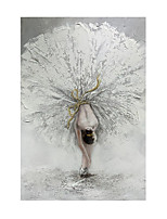 cheap -Oil Painting Handmade Hand Painted Wall Art Vertical Modern Beautiful Ballerina Picture Home Decoration Decor Rolled Canvas No Frame Unstretched