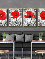 cheap -Wall Art Canvas Prints Painting Artwork Picture Red Floral Botanical Home Decoration Dcor Rolled Canvas No Frame Unframed Unstretched