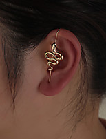 cheap -Women's Ear Cuff Cuban Link Petal Vintage Modern Cute Sweet Earrings Jewelry Gold For Party Gift Daily Prom Club 1pc
