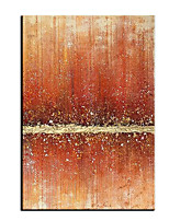 cheap -Oil Painting Handmade Hand Painted Wall Art Vertical Modern Abstract Orange Silver Light Luxury Home Decoration Decor Rolled Canvas No Frame Unstretched