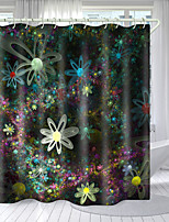 cheap -Color HD Flower Series Digital Printing Shower Curtain Shower Curtains  Hooks Modern Polyester New Design