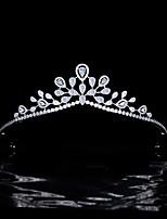 cheap -Simple Sweet Bride Married Zircon Crown Wedding Tiara Princess Star Headdress