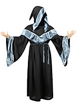 cheap -Witch Wizard Pastor Cosplay Costume Adults' Men's Halloween Halloween Festival / Holiday Terylene Men's Women's Easy Carnival Costumes Solid Color / Leotard / Onesie