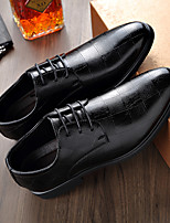 cheap -Men's Loafers & Slip-Ons Business Daily Nappa Leather Black Fall Spring