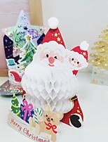 cheap -moka japan and south korea creative christmas 3d three-dimensional greeting card through handmade honeycomb christmas tree blessing decoration gift card