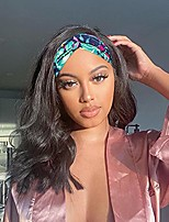 cheap -Headband Wigs for Black Women Synthetic Glueless Long Black Wig Natural Looking Wavy Wigs with Headbands Attached (14 Inch, Black)