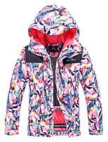 cheap -Women's Ski Jacket Snow Jacket Thermal Warm Waterproof Windproof Breathable Hooded Winter Winter Jacket for Snowboarding Ski Mountain