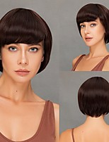 cheap -Synthetic wig for Cosplay Daily Wig Synthetic Wig Heat Resistant  Fiber Yaki Straight Natural Straight Pixie Cut With Bangs for Women Free Cap