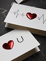 cheap -diy leather love three-dimensional birthday mid-autumn valentine's day card i love you heartbeat card christmas card