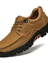 cheap -Men's Loafers & Slip-Ons Leather Shoes Comfort Loafers Sporty Casual Vintage Daily Outdoor Hiking Shoes Trail Running Shoes Leather Nappa Leather Non-slipping Height-increasing Shock Absorbing Khaki