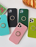 cheap -Phone Case For Apple Back Cover iPhone 12 Pro Max 11 SE 2020 X XR XS Max 8 7 Shockproof Dustproof with Stand Solid Colored PU Leather
