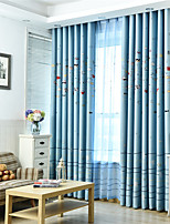 cheap -Window Curtain Window Treatments Blue 1Panels Room Darkening Grommet Rod Pocket Solid For Living Room Bed Room