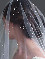 cheap -One-tier Cute / Sweet Wedding Veil Chapel Veils / Cathedral Veils with Sparkling Glitter / Solid Tulle