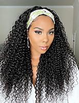 cheap -9A Headband Deep Water Wave Human Hair Wig for Women Brazilian Virgin Human Hair Gluess Full Head Extensions Wig Headband Scarf Wig 150% Density 12-30 Inches