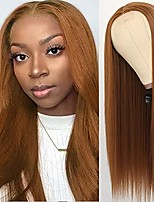 cheap -silky straight synthetic no lace wig mixed brown heat resistant glueless synthetic replacement hair wigs for fashion women