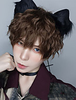 cheap -Synthetic Wig kinky Straight Asymmetrical Wig Short A39 Synthetic Hair Men's Soft Party Fashion Mixed Color