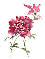cheap -Wall Art Canvas Prints Painting Artwork Picture Floral Botanical Home Decoration Decor Rolled Canvas No Frame Unframed Unstretched