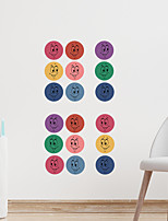 cheap -cartoon color smiley face round children's bedroom entrance wall beautification decorative wall sticker self-adhesive