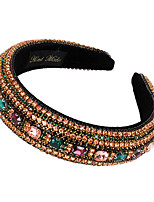cheap -1 Piece Fashion Heavy Industry Rhinestone Headband Retro Baroque Luxury Full Drill Anti-skid Pressure Headband