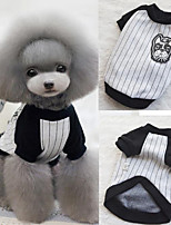 cheap -Dog Cat Shirt / T-Shirt Dog Clothes Puppy Clothes Dog Outfits Gray Costume for Girl and Boy Dog Padded Fabric S M L
