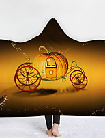 cheap -Cotton Polyester Blend Halloween Throw Blanket Wearable Hoodie For Couch Chair Sofa Bed Soft Fluffy Warm Cozy Plush Autumn Winter