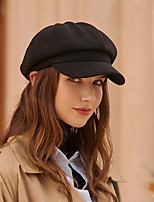 cheap -Simple Retro Cotton / Polyester Hats with Buttons / Split Joint / Solid 1pc Wedding / Casual Headpiece