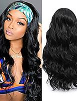 cheap -Body Wave Headband Wig Glueless Synthetic Headband Wigs for Black Women Long Wavy Heat Resistant for Black Women 180% Density Natural Looking Headband Wig 22 Inch