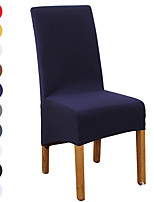 cheap -Solid Color Dining Chair Covers, Stretch Chair Cover, Spandex High back Chair Protector Covers Seat Slipcover with Elastic Band for Dining Room,Wedding, Ceremony, Banquet