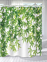 cheap -Plant Elements Digital Printing Shower Curtain Shower Curtains Hooks Modern Polyester New Design