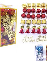 cheap -32pcs Multicolor Plastic Christmas Balls Xmas Tree Ornament Hang Pendants Indoor New Year Xmas Tree Home Decor