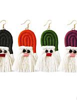 cheap -Women's Earrings Tassel Fringe Santa Suits Stylish Earrings Jewelry Dark Purple / Light Red / Green For Christmas Festival 1 Pair