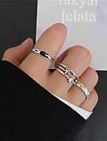 cheap -Ring Set Hollow Out Silver Gold Alloy Moon Star Stylish Simple Unique Design 3pcs / Women's