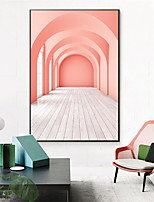 cheap -Wall Art Canvas Prints Painting Artwork Picture Still Life Pink Door Home Decoration Decor Rolled Canvas No Frame Unframed Unstretched