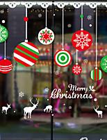 cheap -Christmas Cartoon Santa Claus Snowman Fawn Window Film Cling Vinyl Home Decor For Window Cabinet Door Sticker Window Sticker - 70*50CM
